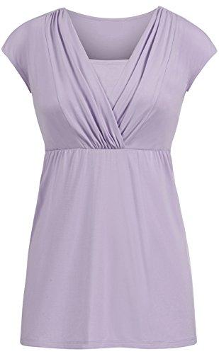 Allattamento Moda Corta T Top Estive Camicie Purple Elegante Manica L'Allattamento LIOMENLA Puro Colore Casual Comoda Donna Maglietta Popolare Shirt Gravidanza xIRzFnwYpq