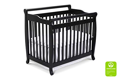 DaVinci Emily 2-in-1 Mini Crib and Twin Bed in Ebony Finish