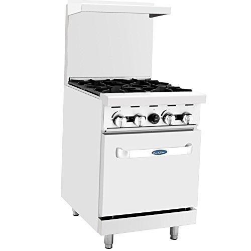 """CookRite Commercial Natural Gas Range 24"""" 4 Burner Hotplates With Standard Oven - 124,000 BTU"""