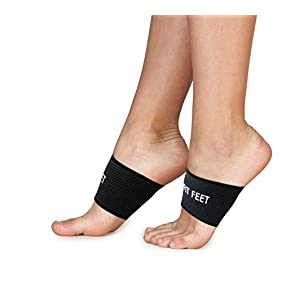Fit Feet Copper Compression Sleeves - 2 Plantar Fasciitis Braces & Arch Supports. Relieves Pain from Flat Feet and Plantar Fasciitis!