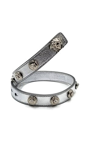 Authentic Versace Medusa Logo Double Wrap Bracelet (Silver) by Gianni