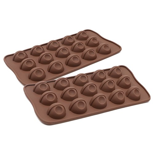 JoieeS Set of 2 Silicone Tray Ice Cube Candy Chocolate Cake Mold Eyeballs ()