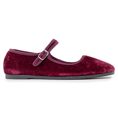 Women's Soft Wine Ballet Flats Velvet Pointed On Comfort Slip Dressy Vegan Toe Classic Casual ROF Sdp44q
