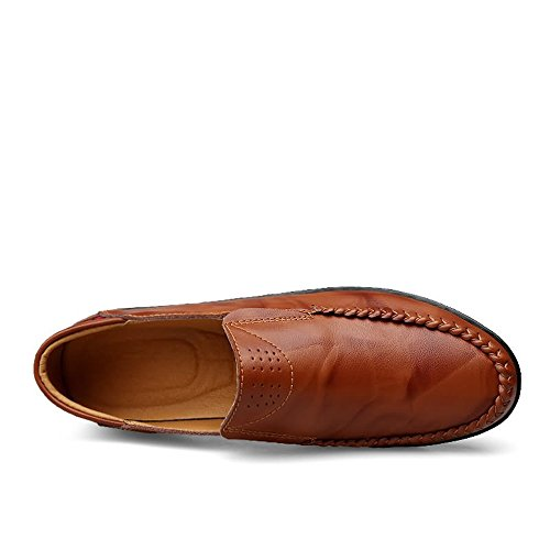 Color Red 2018 da on guida Brown il slip Uomo Mocassini tempo 38 in Comfort Shufang Mocassini Da uomo libero Dimensione Scarpe per Mocassini da EU pelle shoes zxqXB1