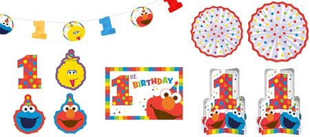 amscan 1st Birthday Elmo Room Decorating Kit 10 Piece Party Supplies Elmo Sesame Street Fun to be One!