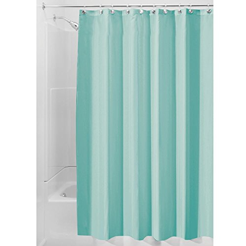InterDesign Mildew Free Water Repellent Fabric Shower Curtain 72 Inch By Aqua