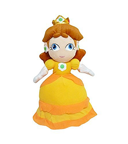 Mario Bro: 12-inch Princess Daisy Plush Doll]()