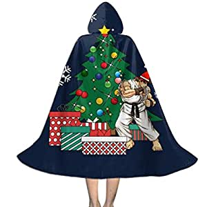 NUJSHF Ryu Alrededor del árbol de Navidad Unisex Capa con Capucha ...