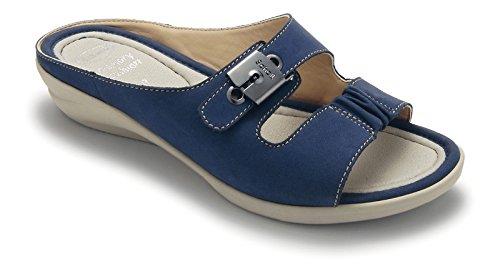 Scholl , Sandales pour femme Noir bleu