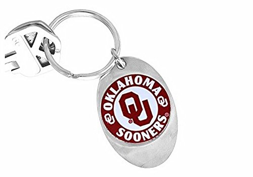 Lonestar Jewelry Licensed University of Oklahoma Sooners Logo Key Chain - Sooners Logos Oklahoma
