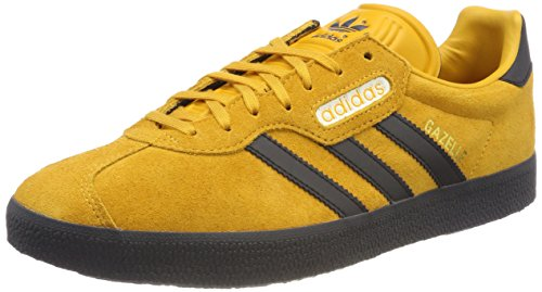 adidas Herren Gazelle Super Laufschuhe Grau (Tactile Yellow F17/carbon S18/off White)