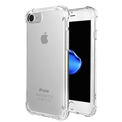 iPhone 7 Case,GoerTek Shock Absorption Bumper Case [Ultra Crystal Clear] with High-Quality TPU Material for iPhone 7-4.7Inch (Transparent Color)