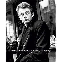 "James Dean (Dream Quote) Movie Poster Print - 16"" X 20"""
