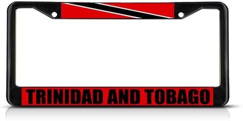 TOGETHER WE ASPIRE TRINIDAD TOBAGO FLAG METAL CAR LICENSE PLATE FOR CARS..