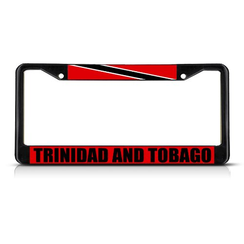 Fastasticdeals Trinidad and Tobago Flag License Plate Frame Tag Holder Cover