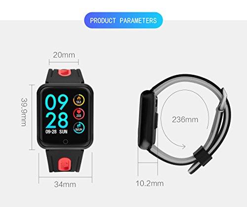 elecfan Waterproof Health Tracker, Smartwatch with Heart Rate Blood Oxygen Sleep SNS Remind Electronic Wearable Travel Office Sports Activity Bracelet for iPhone X/7/8,Samsung Galaxy S9/Note 8,Grey by elecfan (Image #4)