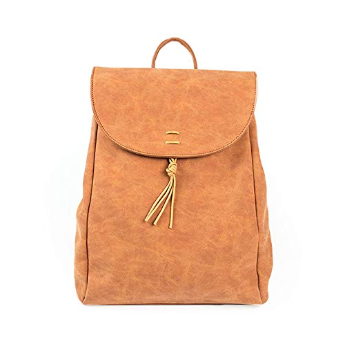 Sac à dos pour femme - Style rétro, style européen et américain, style similicuir souple, mode tendance sac à main sauvage grande capacité voyage simple brun