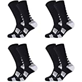 Boys Sock Basketball Soccer Hiking Ski Athletic Outdoor Sports Thick Calf High Crew Socks 4 Pack