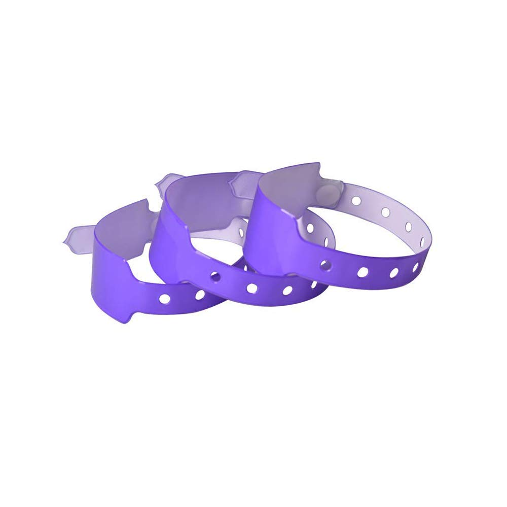 Orange Lot de 100 bracelets plastique//vinyle pour /év/énements Avec zone inscriptible large Personnalisable et /étanche