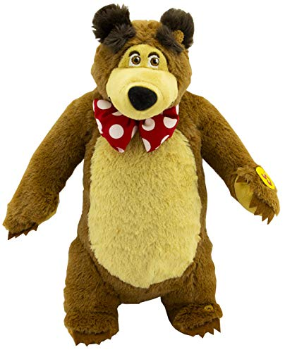 Lovely Giggle Character from The Cartoon Funny Soft Toy Teddy Bear Stuffed Animal Plush Masha y el OSO from Masha and the Bear