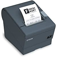 Epson C31C636363 TM-T88IV ReStick Liner-Free Label Printer 80mm Serial Interface Liner Free with PS180 - Color Dark Gray