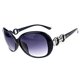 BestMall Shades Oversized Eyewear, Shining Black&Grey, One Size