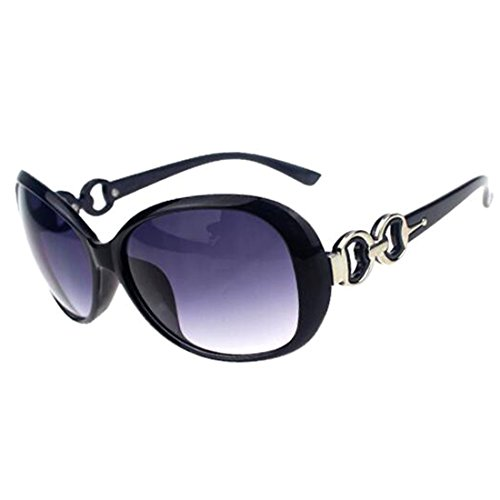 Fashion?Life Women Shades Oversized Eyewear Classic Designer Sunglasses UV400-Shining Black&Grey - De Designer Eyewear