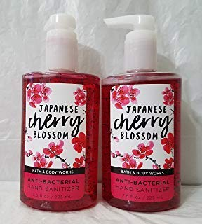 (Bath and Body Works 2 Pack Japanese Cherry Blossom Anti-Bacterial Hand Sanitizer 7.6 Oz / 225)