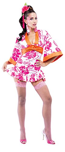 Papermagic Womens Asian Sexy Geisha Flowery French Kiss Adults Halloween Costume, L (12-14) -