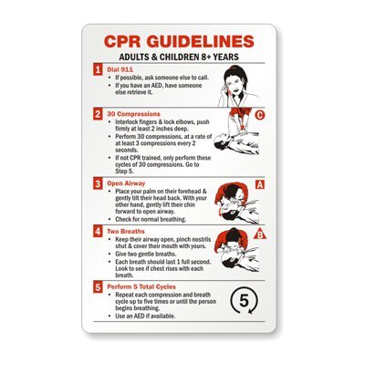 photo relating to Printable Cpr Card identify : CPR Laws Protection Wallet Playing cards 5 Playing cards/Pack
