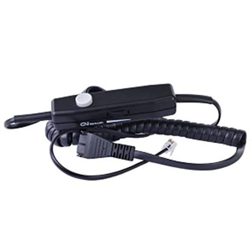 GN Netcom 0686M In-Line Quick Disconnect (QD) Headset Amplifier Cable w/Mute Button (Amplifier Gn Netcom Headset)