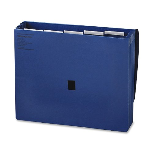 (Wilson Jones ColorLife Insertable Tab Expanding Wallet, 5.25 Inch Expansion, 5 Pockets, Letter Size, Blue)