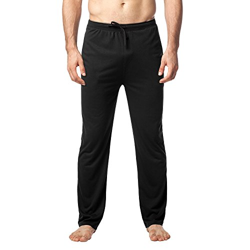 LAPASA Men's Ultra Soft Pajama Pants Jersey Knit Lounge Sleep Pants PJ Bottom with Drawstring M23 (XL Waist 40
