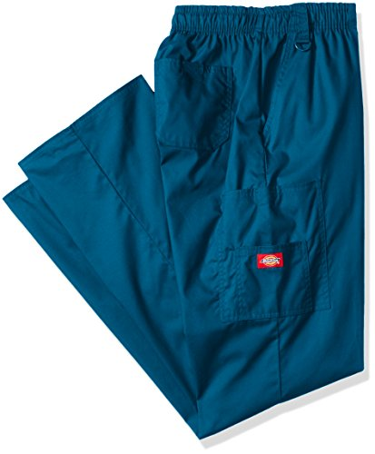 - Dickies Men's Big-Tall EDS Signature Zip Fly Pull-On Scrub Pant, Caribbean Blue Large