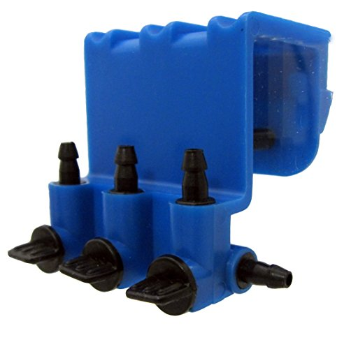 3 Way Gang Valve Professional Edition For Aquariums, Terrariums, and Hydroponics