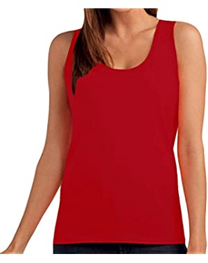 Hanes Tasty Womens Sleeveless Plain Cotton Tank Top