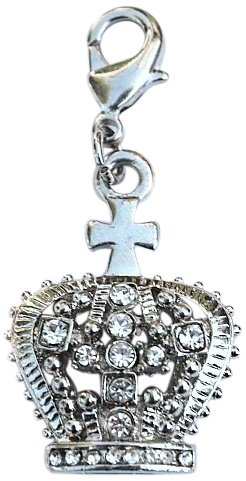 The Dog Squad Clip on Pet Collar Charms, Diana Crown