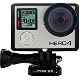 Wealpe Frame Mount Housing with Lens Cover and Protective Lens for GoPro Hero 4, 3+, 3 Cameras