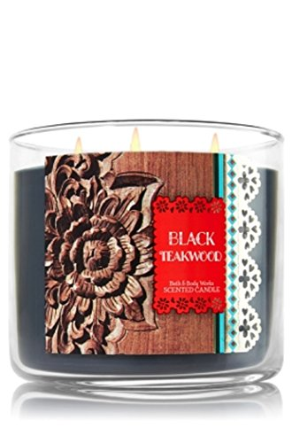 Bath and Body Works 3-Wick Candle Black Teakwood by Bath & Body Works (Image #1)