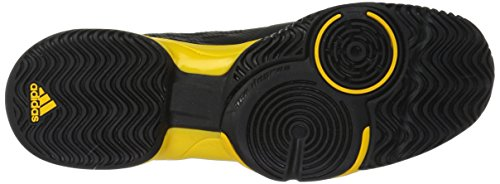 Pictures of adidas Kids' Barricade xJ Tennis Shoe BY9918 Black/White/Yellow 7