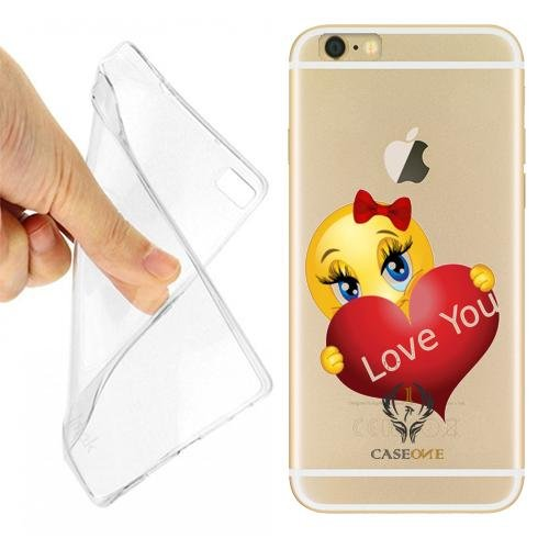 CUSTODIA COVER CASE SMILE LOVE YOU PER IPHONE 6 PLUS TRASPARENTE