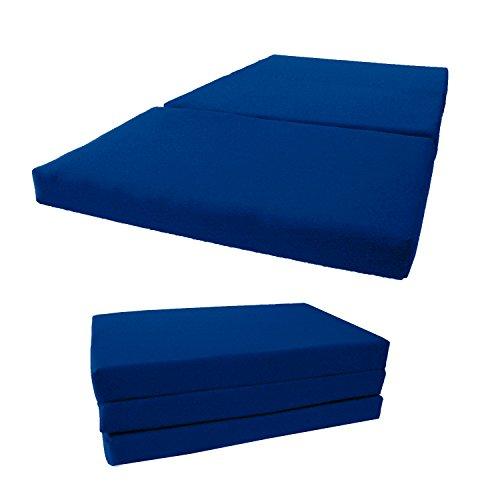Brand New Shikibuton Tri Fold Foam Beds, Tri-Fold Bed, High Density 1.8 lbs Foam, Twin Size, Full, Queen Folding Mattresses. (Twin Size 4x39x75, Royal)