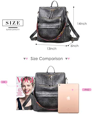 Tom Clovers Women Leather Backpack Daypack Casual Fashion Bag for Ladies Girls