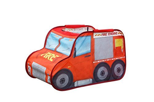 Kids Play Tent Make Believe Car Play Tent Fire Truck Mini Driver Play-house Indoor & Outdoor Pop-Up Tent Great Game & Toy For Gift For Children Fun by Alvantor