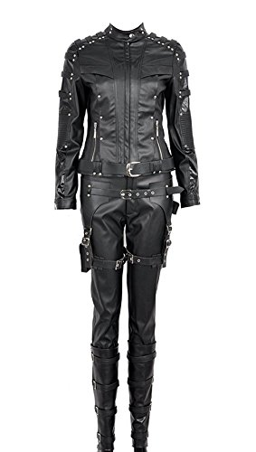 Green Arrow Battleframe Cosplay Costume (Large, Black Sarah -