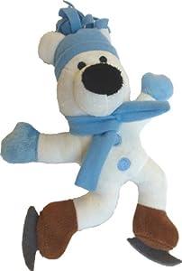 Animate Xmas Toys Hundespielzeug, Modell Eisbär auf Schlittschuhen