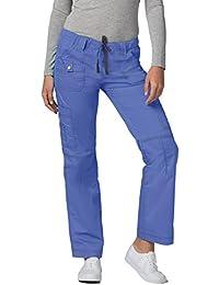 Adar Pop-Stretch Junior Fit Low Rise Multi Pocket Straight Leg Pants Petite