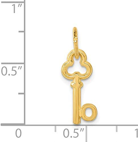 Jewels Obsession 14K Yellow Gold No Problem Saying Pendant 14 mm