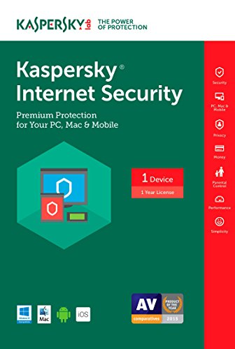 Kaspersky Internet Security 2017 | 1 Device | 1 Year | Download [Online Code] (Best Low Resource Antivirus 2019)