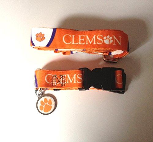 Hunter Clemson University Pet Combo Set (Collar, Lead, ID Tag), X-Small